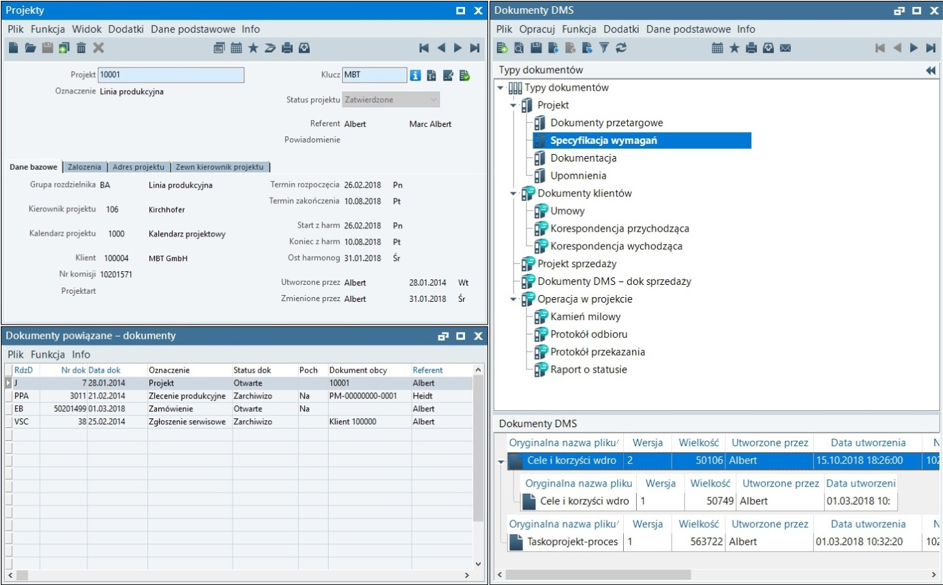 Zarzadzanie zmianą technologiczną - struktura folderów dms