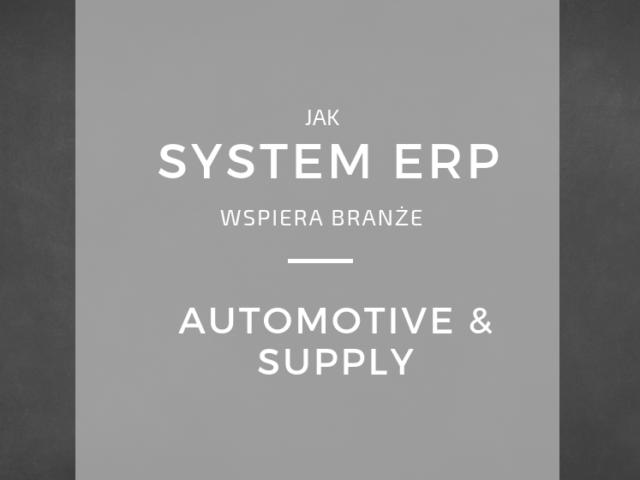 Wspieranie branży automotive&supply